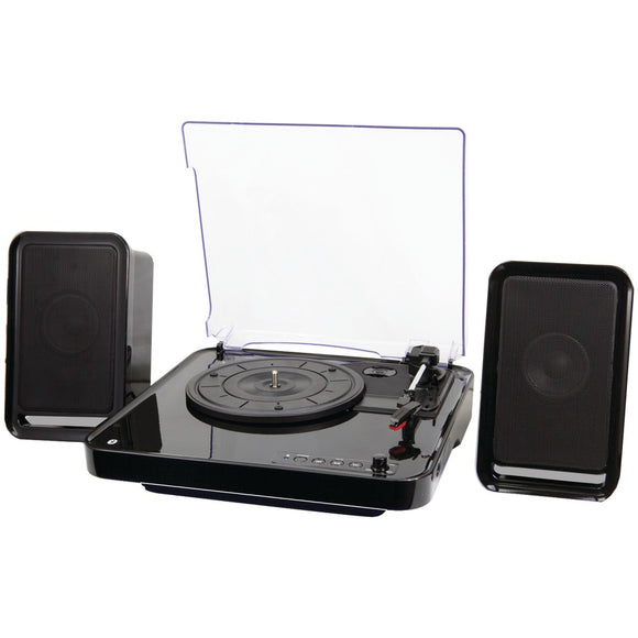 iLive ITTB757B All-in-One Bluetooth(R) Turntable & Stereo Speaker System