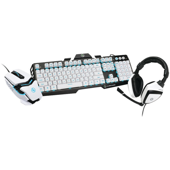 IOGEAR(R) GKMHKIT1E Kaliber Gaming(R) Imperial White Edition Gaming Bundle