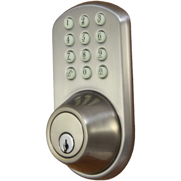Morning Industry Inc. HF-01SN Touchpad Electronic Dead Bolt (Satin Nickel)