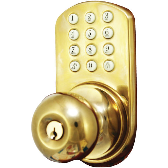 Morning Industry Inc. HKK-01P Touchpad Electronic Doorknob (Polished Brass)