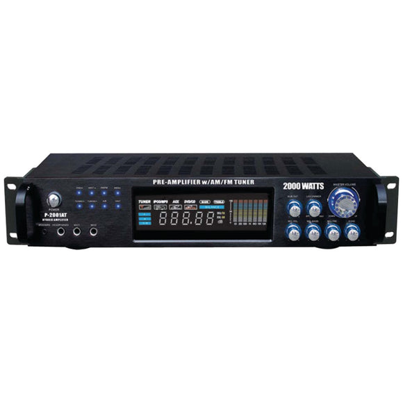 Pyle Pro(R) P2001AT Hybrid Amp & AM/FM Tuner (2,000 Watt)