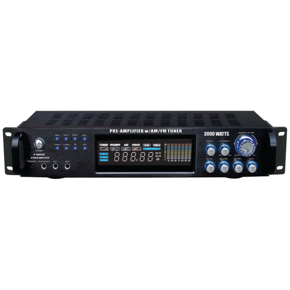 Pyle Pro(R) P3001AT Hybrid Amp & AM/FM Tuner (3,000 Watt)