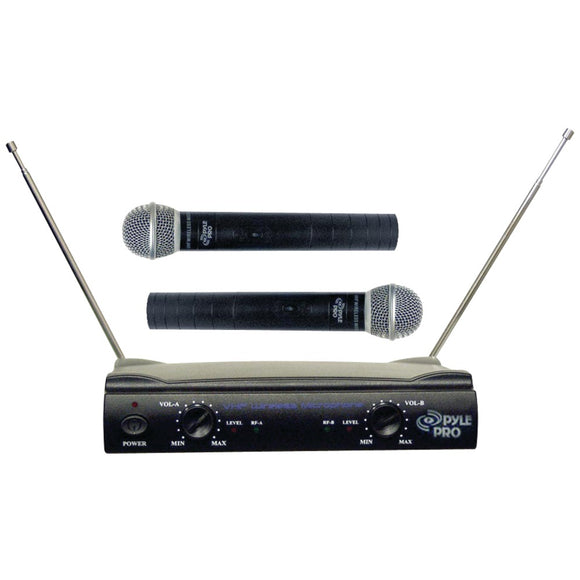 Pyle Pro(R) PDWM2500 Dual VHF Wireless Microphone System
