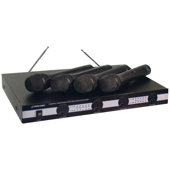 Pyle Pro(R) PDWM5000 4-Microphone VHF Wireless Microphone System