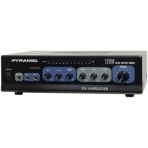 Pyramid(R) Car Audio PA205 Amp with Microphone Input (120 Watt)