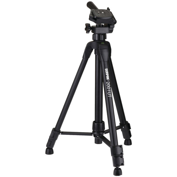 Sunpak(R) 620-020 Tripod with 3-Way Pan Head (Folded height: 18.5