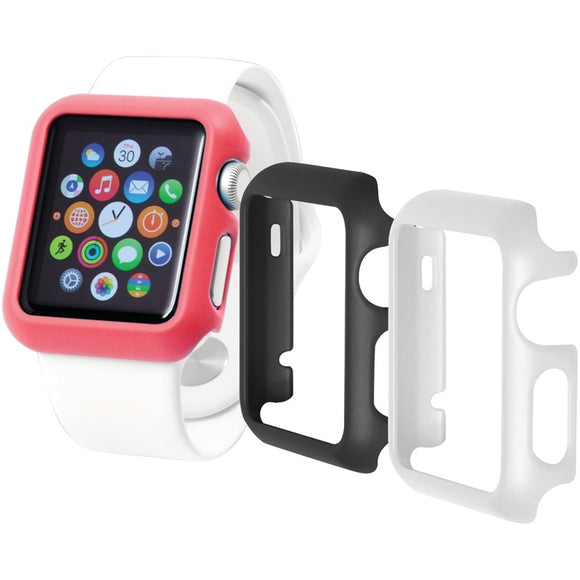 Trident(TM) Case OD-APWG03-BWP00 Apple Watch(R) Odyssey Guard Cases, 3 pk (38mm, Black/White/Pink)