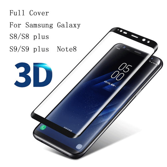 For Samsung Galaxy s6edge s7edge S8 S8 plus 3D Curved Full Tempered Glass Cover 9h Explosion-proof For Samsung NOte8 s9 s9+ Scre