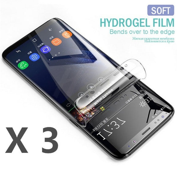 3Pcs Not Tempered Glass Soft Hydrogel Film For Samsung Galaxy S8 Plus S6 S7 Edge Screen Protector Film Full Cover