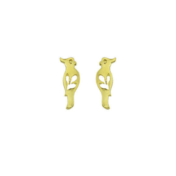 Gold Color Fine Hollow Bird Earrings
