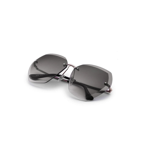 Rimless Oversized Sunglasses