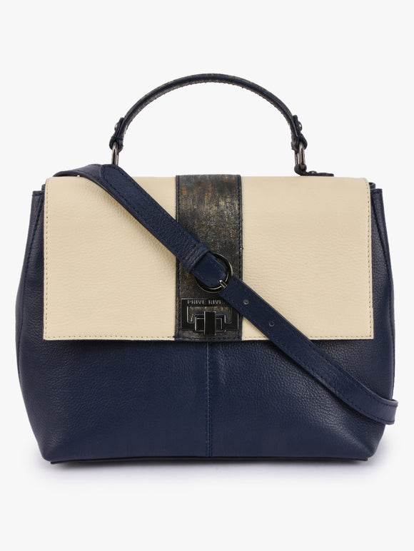 Phive Rivers Women's Blue Leather Handbag