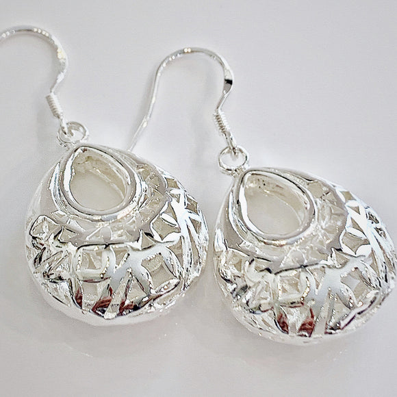 Miran Puffed Sterling Silver Earrings