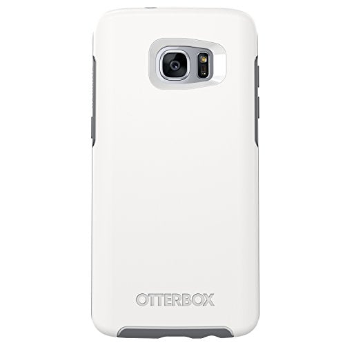 OtterBox Symmetry Series Case for Samsung Galaxy S7 Edge,  Glacier (White/Gunmetal Grey) - Standard Packaging