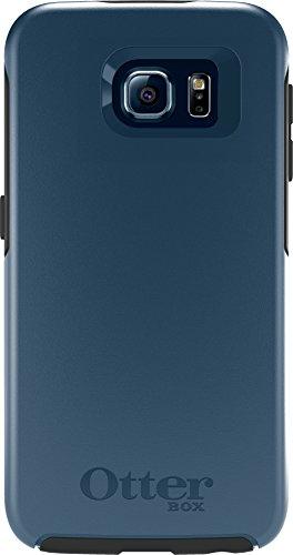 OtterBox SYMMETRY SERIES for Samsung Galaxy S6 - Retail Packaging - City Blue (Dark Deep Water Blue/Slate Grey)