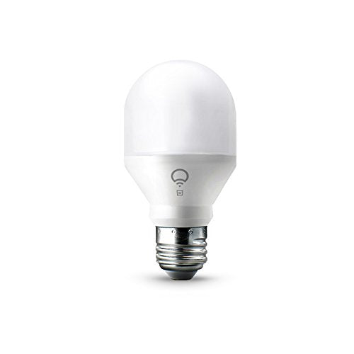LIFX Mini White (A19) Wi-Fi Smart LED Light Bulb, Dimmable, Warm White, No Hub Required, Works with Alexa, Apple HomeKit and the Google Assistant