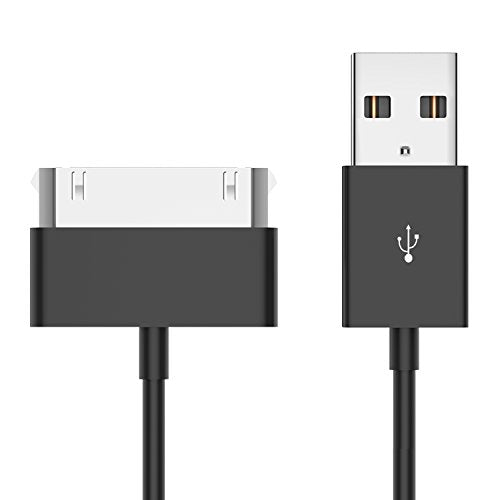 iPhone 4s Cable, JETech 3.2 Feet USB Sync and Charging Cable for iPhone 4/4s, iPhone 3G/3GS, iPad 1/2/3, iPod (Black) - 0156A
