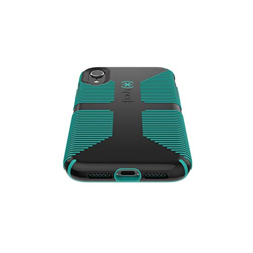 big sale c7739 e1a6e Speck Products CandyShell Grip iPhone XR Case, Black/Oasis Green