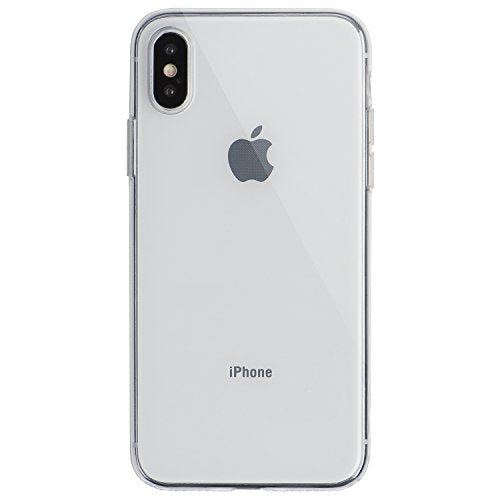 timeless design 89be2 e755c totallee Clear Thin iPhone X Case, Thinnest Soft Cover Slim Flexible TPU -  For Apple iPhone X (Transparent)