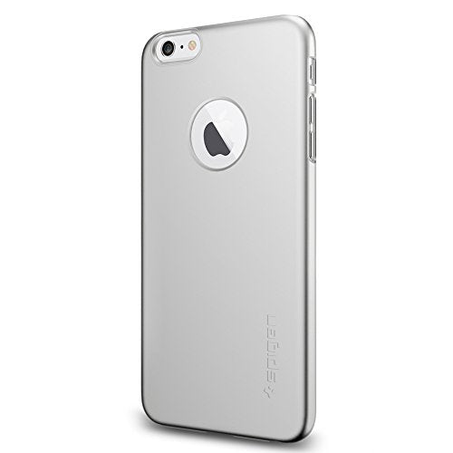 Spigen Thin Fit A iPhone 6 Plus Case with Premium SM Coated Matte Hard Case with Logo Cutout for iPhone 6S Plus / iPhone 6 Plus - Satin Silver