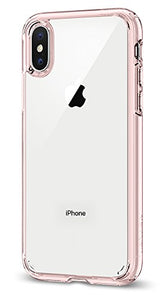 Spigen Ultra Hybrid iPhone X Case with Air Cushion Technology and Hybrid Drop Protection for Apple iPhone X (2017) - Rose Crystal