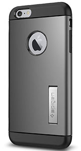 Spigen Slim Armor iPhone 6 Plus Case with Kickstand and Air Cushion Technology and Hybrid Drop Protection for iPhone 6S Plus / iPhone 6 Plus - Gunmetal