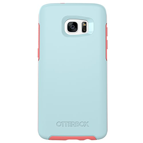 OtterBox Symmetry Series Case for Samsung Galaxy S7 Edge,  Boardwalk (Bahama Blue/Candy Pink) - Standard Packaging