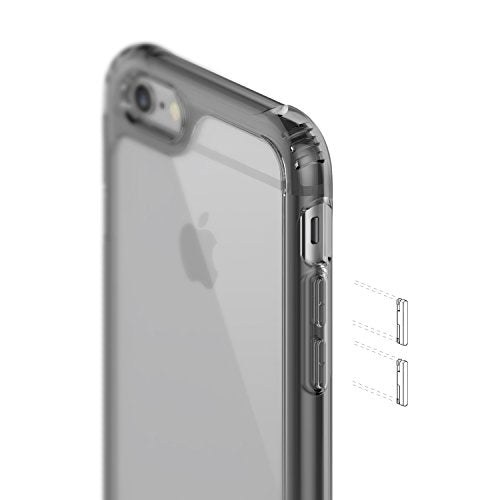 best service f8465 402df iPhone 6S Plus Case, Caseology [Waterfall Series] Slim Fit Clear Drop  Protection [Gray] for Apple iPhone 6S Plus (2015) & iPhone 6 Plus (2014)