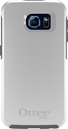 OtterBox SYMMETRY SERIES for Samsung Galaxy S6 - Retail Packaging - Glacier (White/Gunmetal Grey)