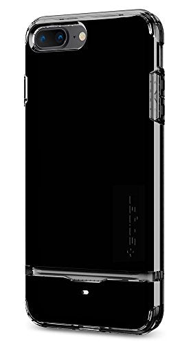 Spigen Flip Armor iPhone 7 Plus Case with Durable Protection and Hidden Card Storage for Apple iPhone 7 Plus (2016) - Jet Black