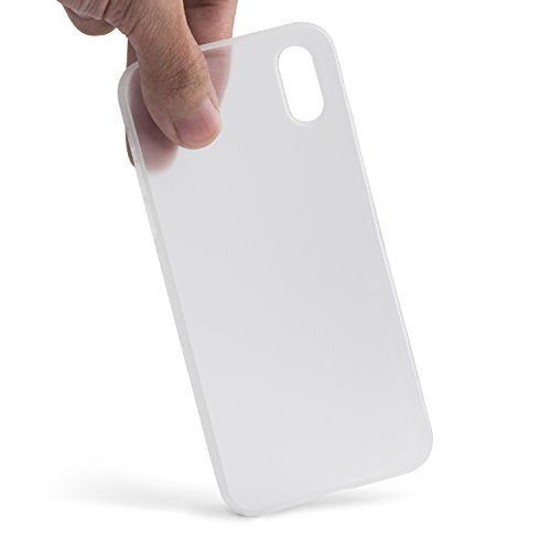 online store fed61 615a5 totallee iPhone X Case, Thinnest Cover Premium Fit Ultra Thin Light Slim  Minimal Anti-Scratch Protective - For Apple iPhone X (Frosted White)