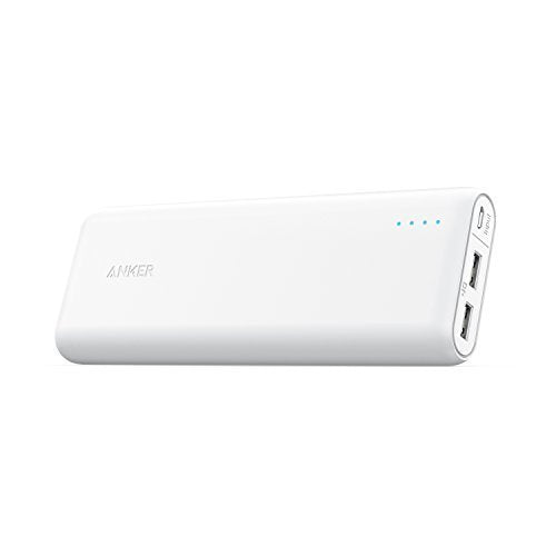 Anker PowerCore 20100 - 20000mAh Ultra High Capacity Power Bank with Powerful 4.8A Output, PowerIQ Technology for iPhone, iPad and Samsung Galaxy and More (White)