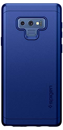 new concept 887f2 a7e62 Spigen Thin Fit 360 Galaxy Note 9 Case with Exact Slim Full Protection and  Tempered Glass Galaxy Note 9 Screen Protector (2018) - Ocean Blue