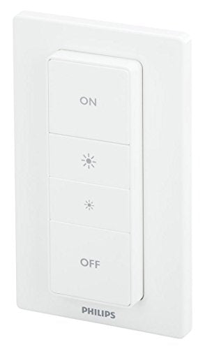 Philips Hue Smart Dimmer Switch with Remote (Installation-Free, Smart Home, Exclusively for Philips Hue Smart Bulbs)