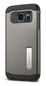 Spigen Slim Armor Galaxy S6 Case with Air Cushion Technology and Kickstand for Galaxy S6 2015 - Gunmetal