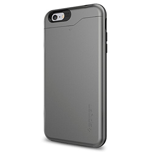 Spigen Slim Armor CS iPhone 6 Case with Slim Dual Layer Wallet Design and Card Slot Holder for iPhone 6S / iPhone 6 - CS Gunmetal