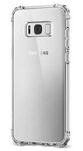Spigen Crystal Shell Galaxy S8 Case with Clear back panel and Reinforced Corners on TPU bumper for Galaxy S8 (2017) - Clear Crystal