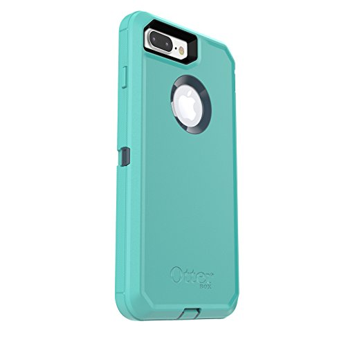 newest d72a0 ca770 OtterBox DEFENDER SERIES Case for iPhone 8 Plus & iPhone 7 Plus (ONLY) -  Retail Packaging - BOREALIS (TEMPEST BLUE/AQUA MINT)