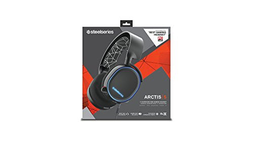 SteelSeries Arctis 5 RGB Illuminated Gaming Headset with DTS Headphone:X  7 1 Surround for PC, PlayStation 4, Xbox One, VR, Android and iOS - Black