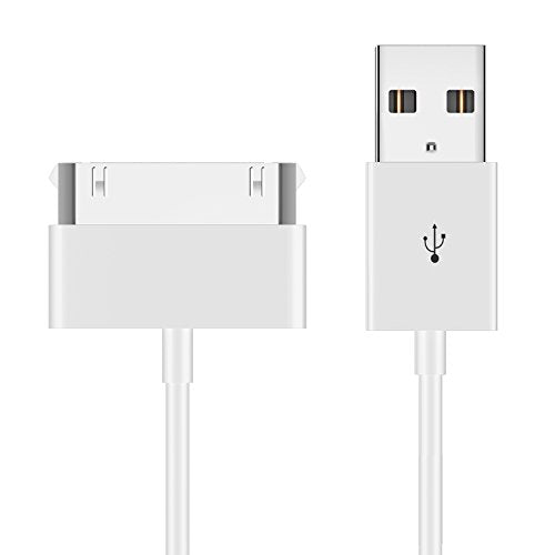 iPhone 4s Cable, JETech USB Sync and Charging Cable for iPhone 4/4s, iPhone 3G/3GS, iPad 1/2/3, iPod - 3.2 Feet 1 Meter - 0156