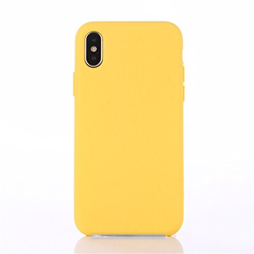 brand new 11e8f bf9cf Yajuhoy iPhone X case, Liquid Silicone Gel Rubber Slim Fit Soft Mobile  Phone Case with Microfiber Cloth Lining Cushion for Apple iPhone X (2017) -  ...