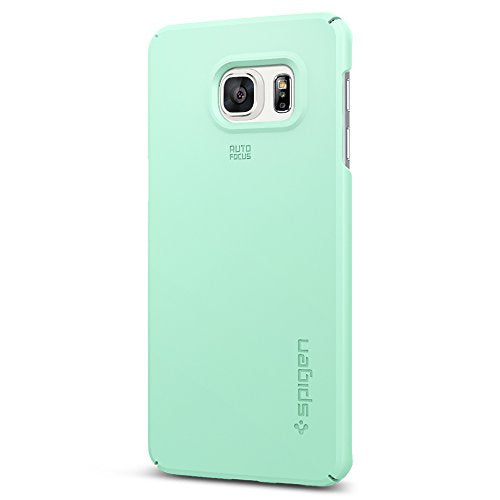 Spigen Thin Fit Galaxy S6 Edge Plus Case with Premium Matte Finish Coating and QNMP compatible for Galaxy S6 Edge Plus 2015 - Mint