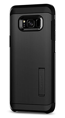 Spigen Tough Armor Galaxy S8 Plus Case with Kickstand and Extreme Heavy Duty Protection and Air Cushion Technology for Galaxy S8 Plus (2017) - Black