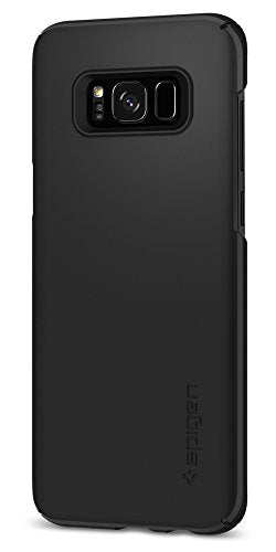 Spigen Thin Fit Galaxy S8 Case with SF Coated Non Slip Matte Surface for Excellent Grip and QNMP Compatible for Samsung Galaxy S8 (2017) - Black
