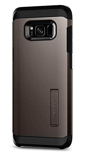 Spigen Tough Armor Galaxy S8 Case with Kickstand and Extreme Heavy Duty Protection and Air Cushion Technology for Samsung Galaxy S8 (2017) - Gunmetal