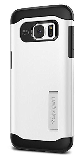Spigen Slim Armor Galaxy S7 Edge Case with Kickstand and Air Cushion Technology and Hybrid Drop Protection for Samsung Galaxy S7 Edge 2016 - Shimmery White