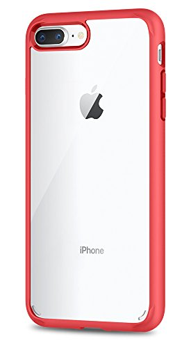 Spigen Ultra Hybrid [2nd Generation] iPhone 7 Plus Case / iPhone 8 Plus Case with Clear Backing Camera Protection and Air Cushion Technology for iPhone 7 Plus 2016 / iPhone 8 Plus 2017 - Red