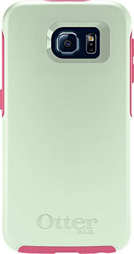 OtterBox SYMMETRY SERIES for Samsung Galaxy S6 - Retail Packaging - Melon Pop (Sage Green/Hibiscus Pink)
