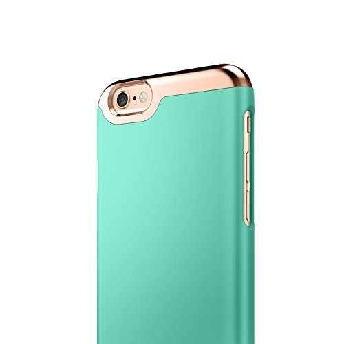 info for 76764 1015a iPhone 6 Case, Caseology [Savoy Series] Slim Premium Luxury Protective  Two-Piece Removable Chrome Slider [Mint Green] for Apple iPhone 6 / iPhone  6S