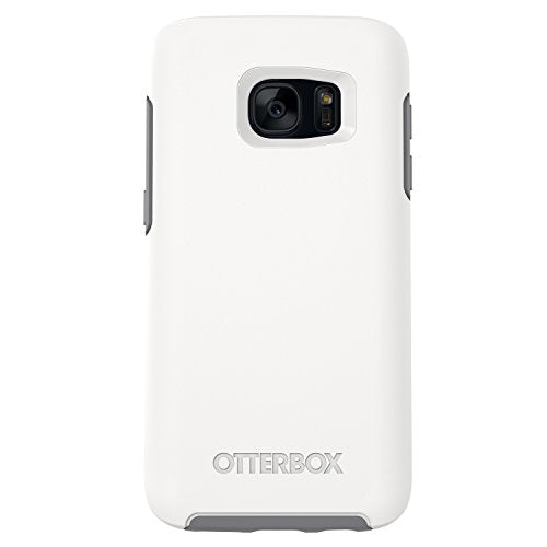 OtterBox SYMMETRY SERIES Case for Samsung Galaxy S7 - Retail Packaging - GLACIER (WHITE/GUNMETAL GREY)